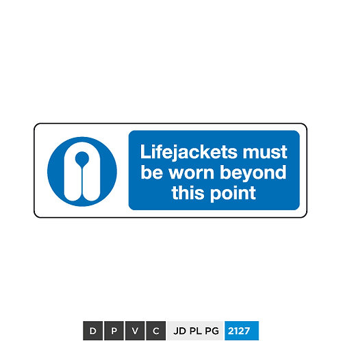 Lifejackets must be worn beyond this point