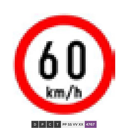 Speed limit 60 km/h