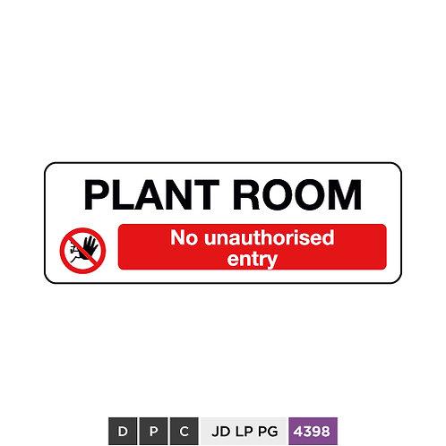 Plant Room, No unauthorised entry