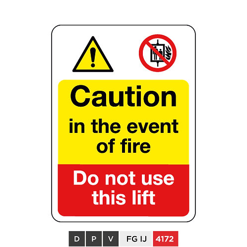 Caution in the event of fire, Do not use this lift