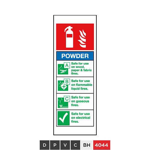Fire extinguisher, Powder