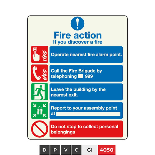 Fire action guide if you discover a fire