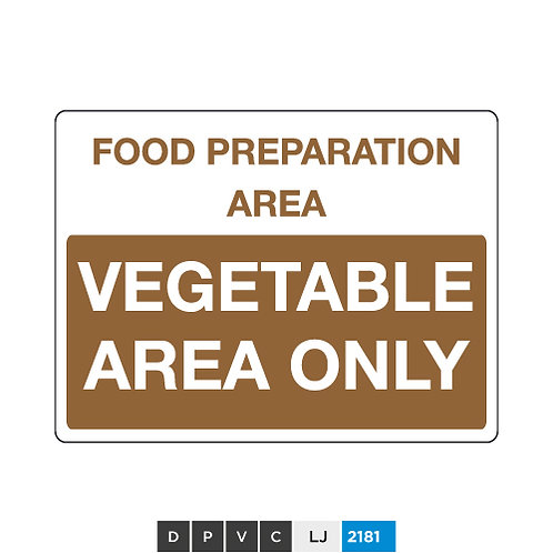 Food preparation area, vegetable area only