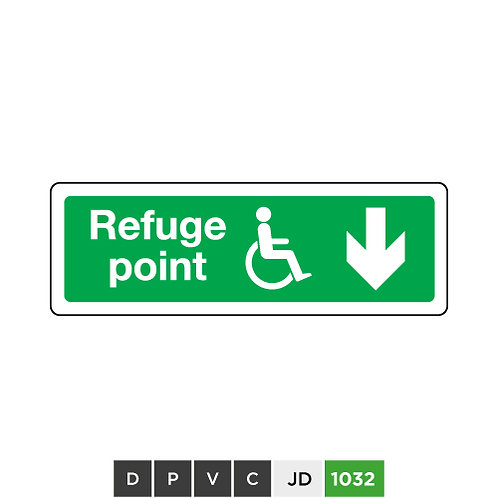 Refuge point (arrow down)