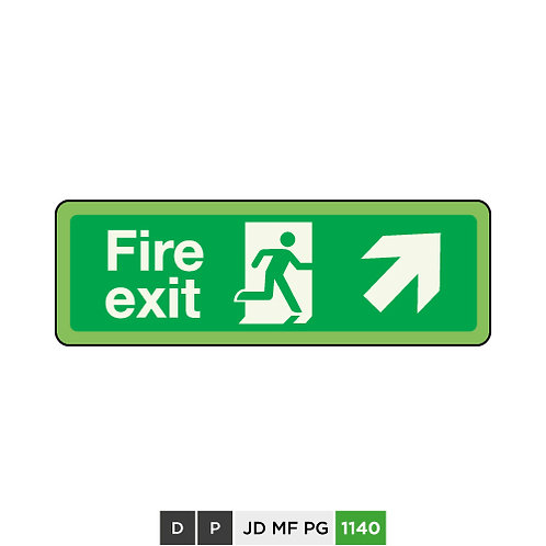 Fire exit (arrow top-right)