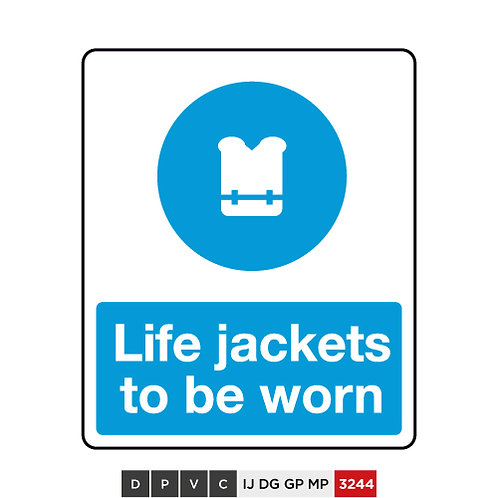 Life jackets to be worn
