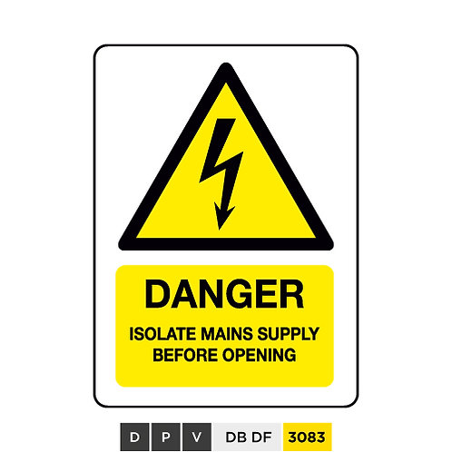 Danger, isolate mains supply before opening