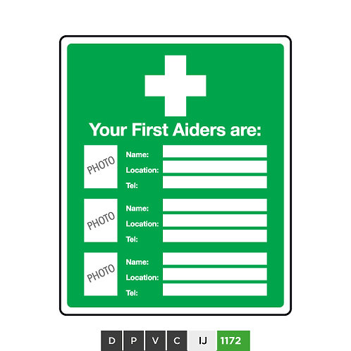 Your First Aiders are (insert text)