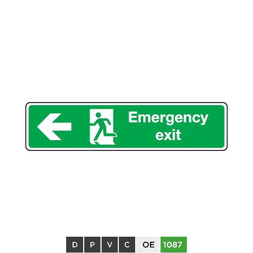 Emergency Exit (arrow left)