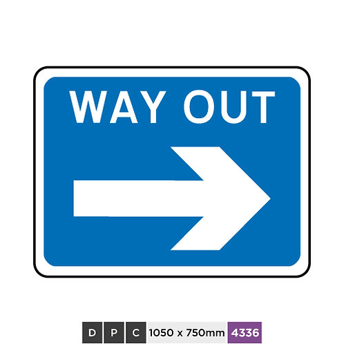 WAY OUT (right arrow)