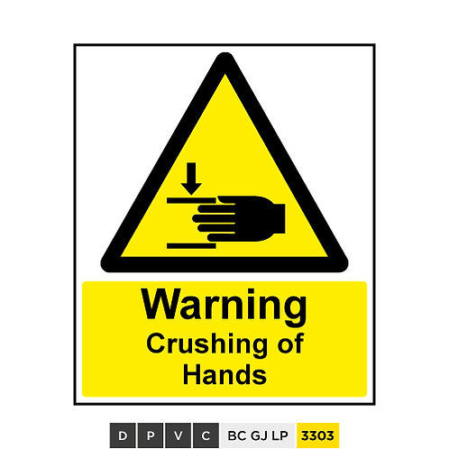 Warning, Crushing of Hands