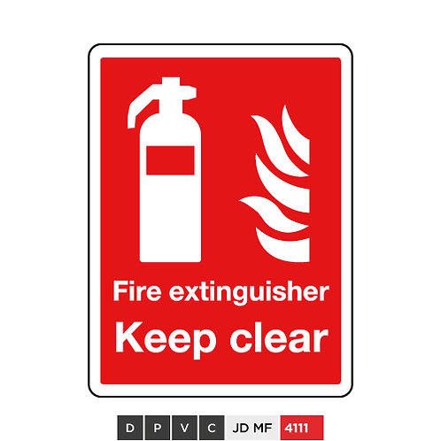 Fire extinguisher, Keep clear