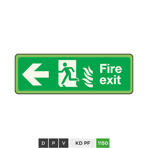 Fire exit (arrow left)