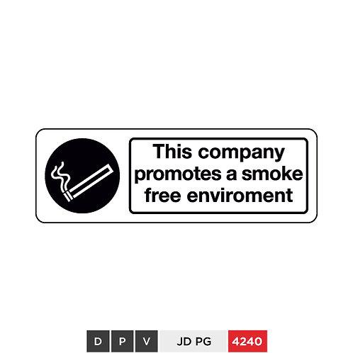 This company promotes a smoke free environment
