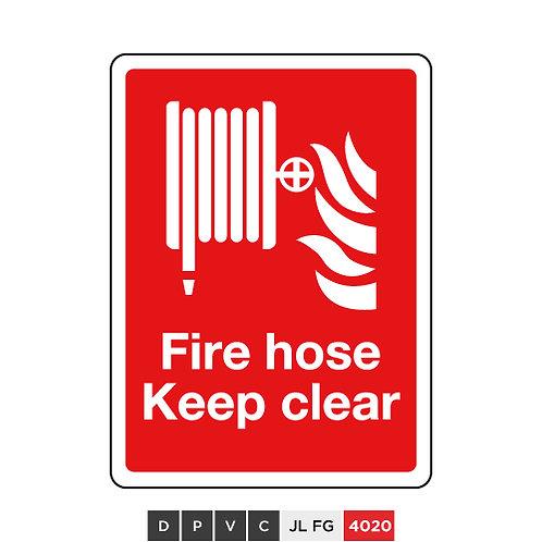 Fire hose keep clear