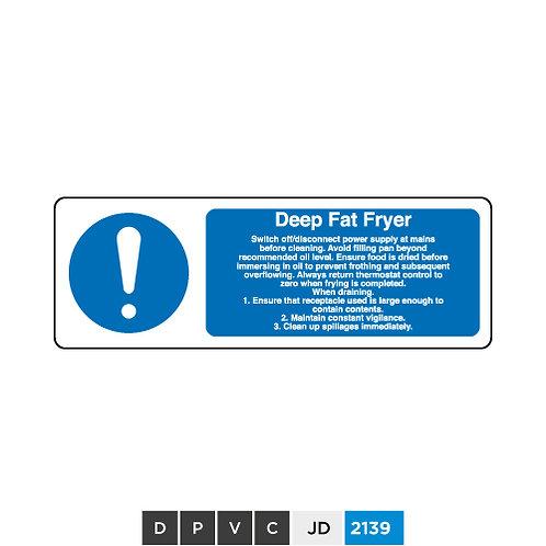 Deep Fat Fryer notice