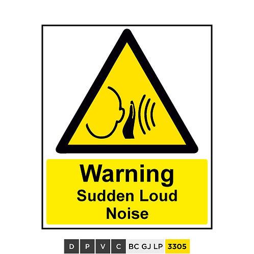Warning, Sudden Loud Noise