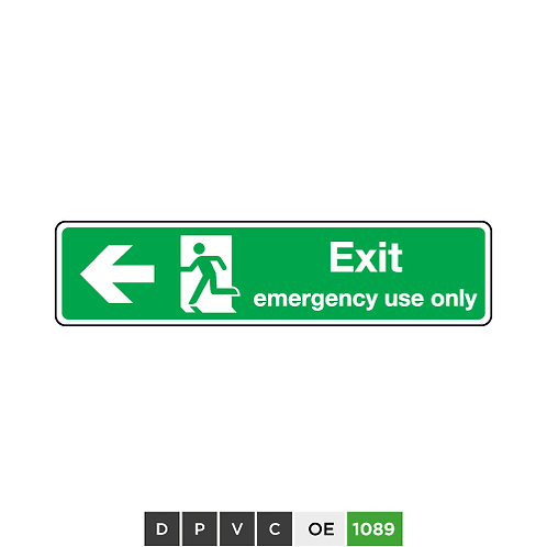 Exit Emergency Use Only (arrow left)