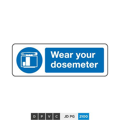 Wear your dosemeter