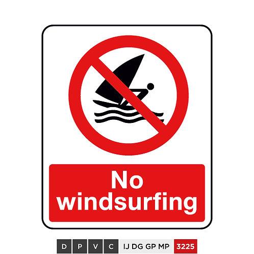 No windsurfing