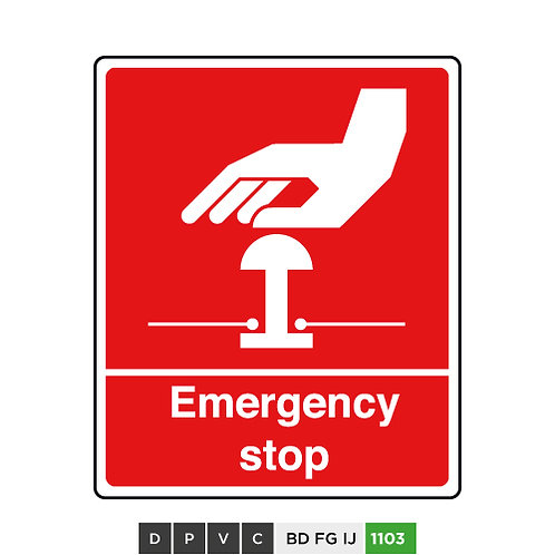 Emergency Stop (Red)