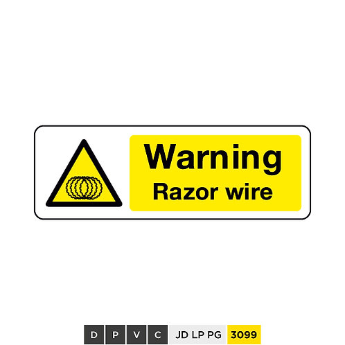 Warning, Razor wire
