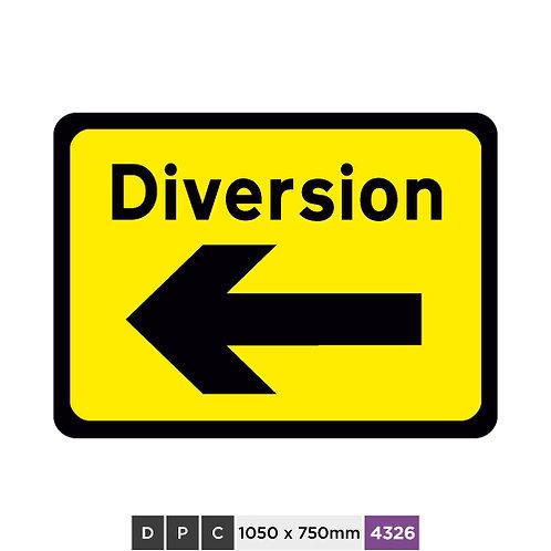DIVERSION (left arrow)