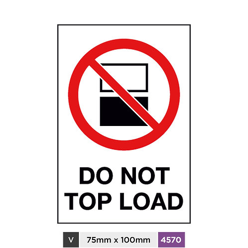 Do not top load
