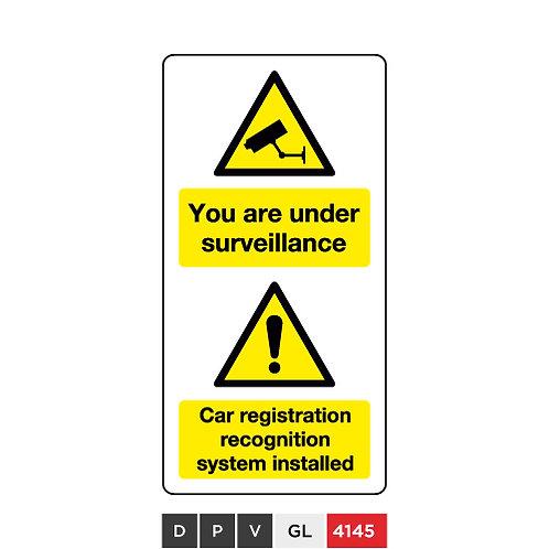 You are under surveillance, Car registration recognition system installed