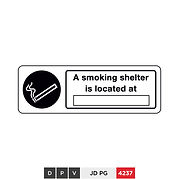 A smoking shelter is located at (insert text)