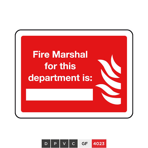 Fire Marshal for this department is (insert text)