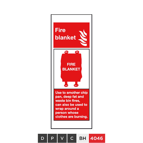 Fire blanket, Use to smother chip pan, deep fast and waste bin fires, can ...