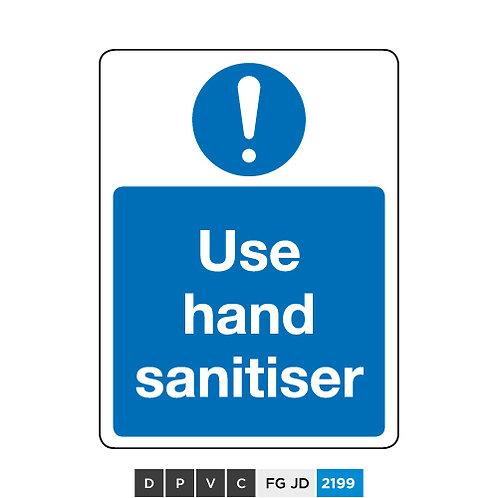 Use hand sanitiser