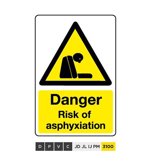 Danger, Risk of asphyxiation