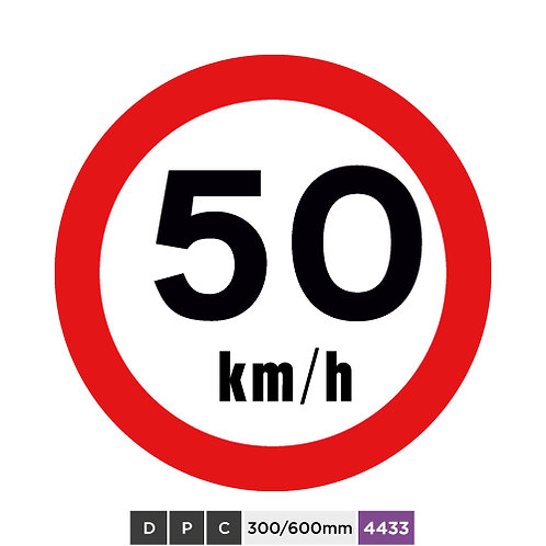 Speed limit 50 km/h