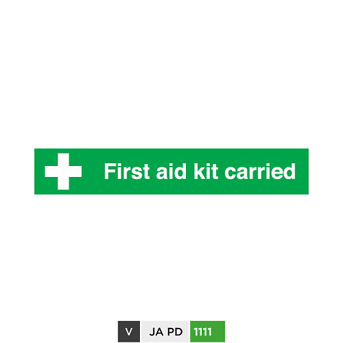 First Aid Kit Carried