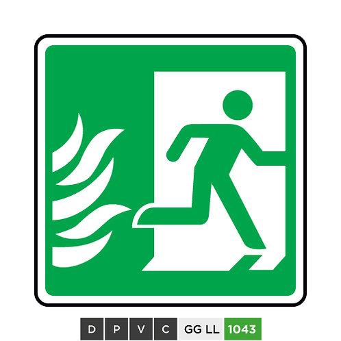 Fire exit symbol