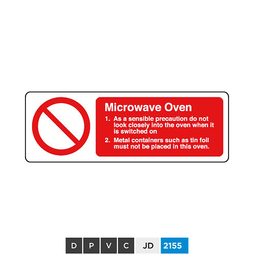Microwave Oven notice