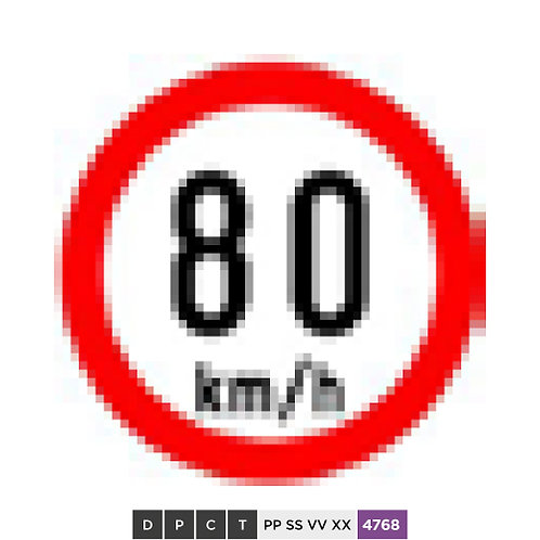 Speed limit 80 km/h