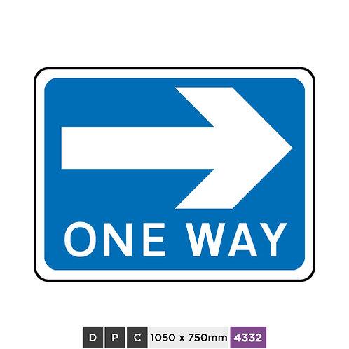 ONE WAY (right arrow)
