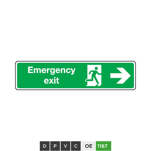 Emergency Exit (arrow right)