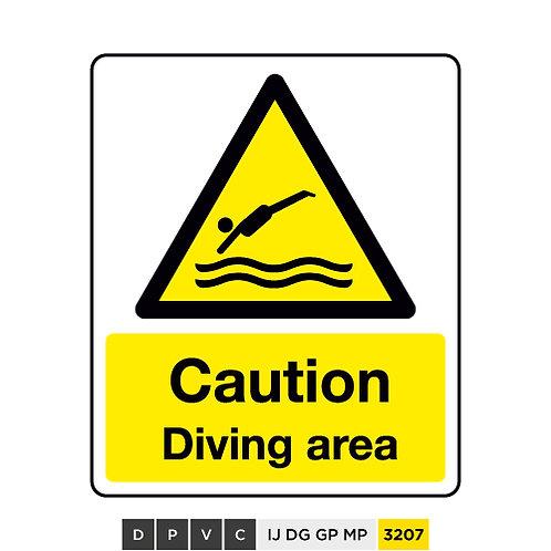 Caution, Diving Area