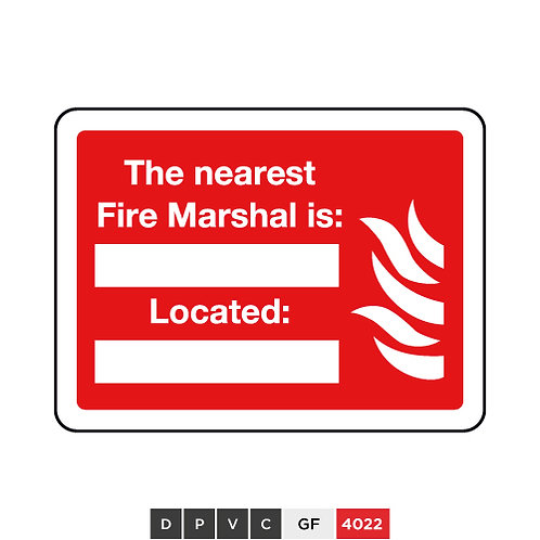 The nearest Fire Marshal is (insert text) Located (insert text)
