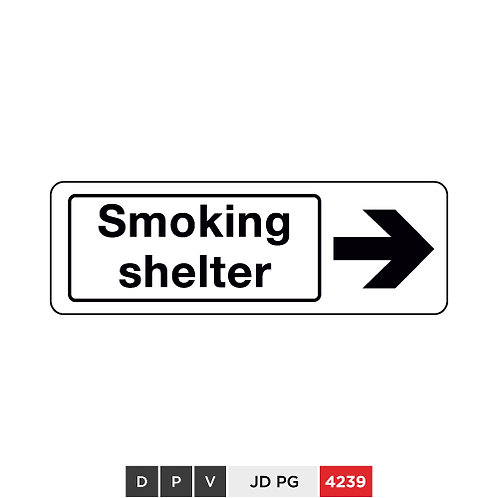 Smoking shelter(with right arrow)