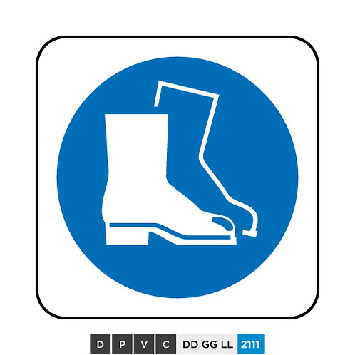 Foot protection symbol