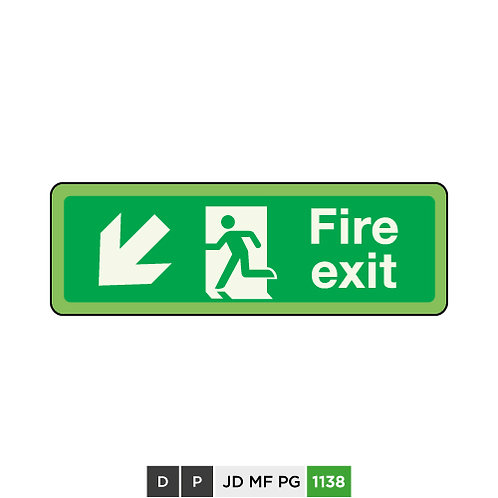 Fire exit  (arrow down-left)