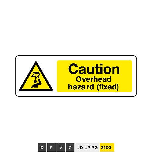 Caution, overhead hazard (Fixed)