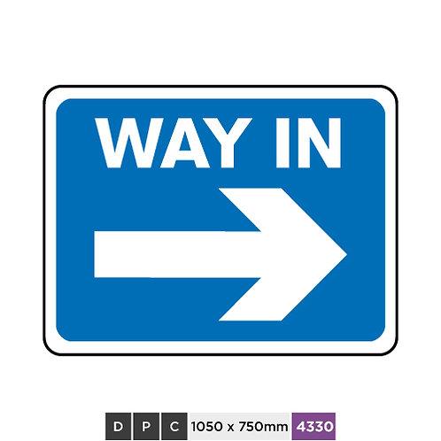 WAY IN (right arrow)