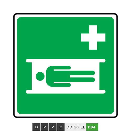 Emergency stretcher symbol
