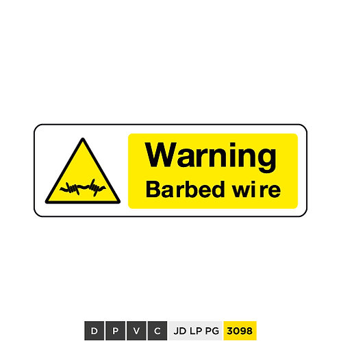 Warning, Barbed wire
